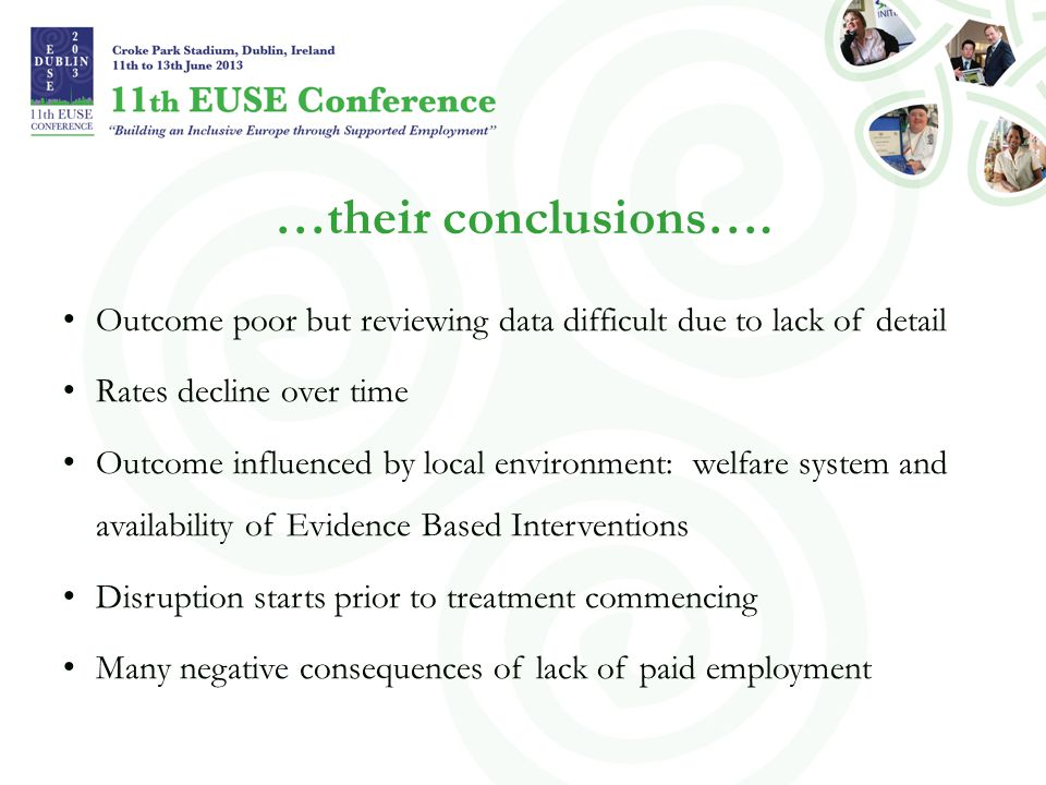 …their conclusions…. Outcome poor but reviewing data difficult due to lack of detail. Rates decline over time.