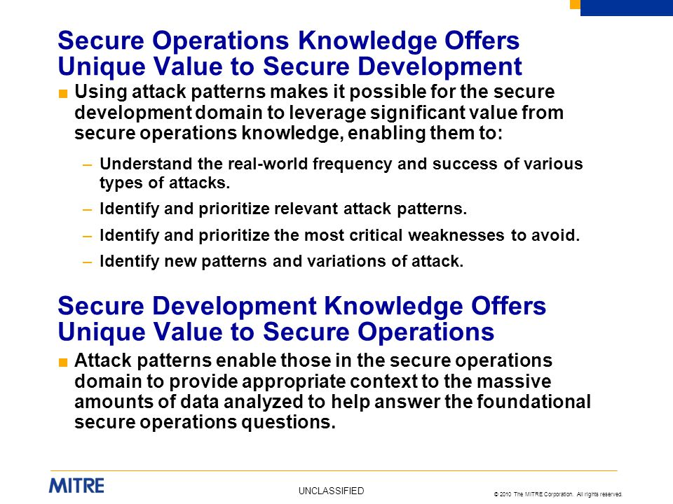 Secure Operations Knowledge Offers Unique Value to Secure Development