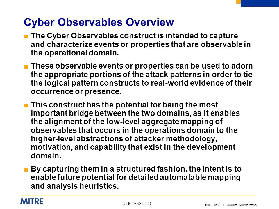 Cyber Observables Overview