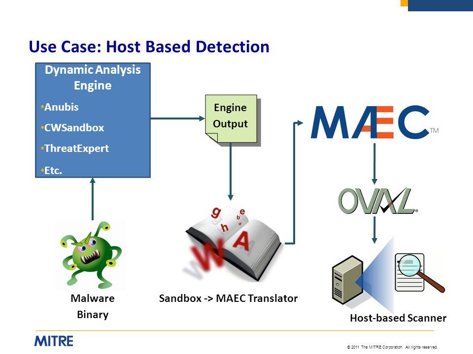Use Case: Host Based Detection