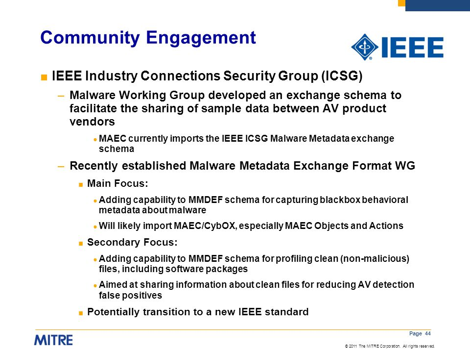 Community Engagement IEEE Industry Connections Security Group (ICSG)
