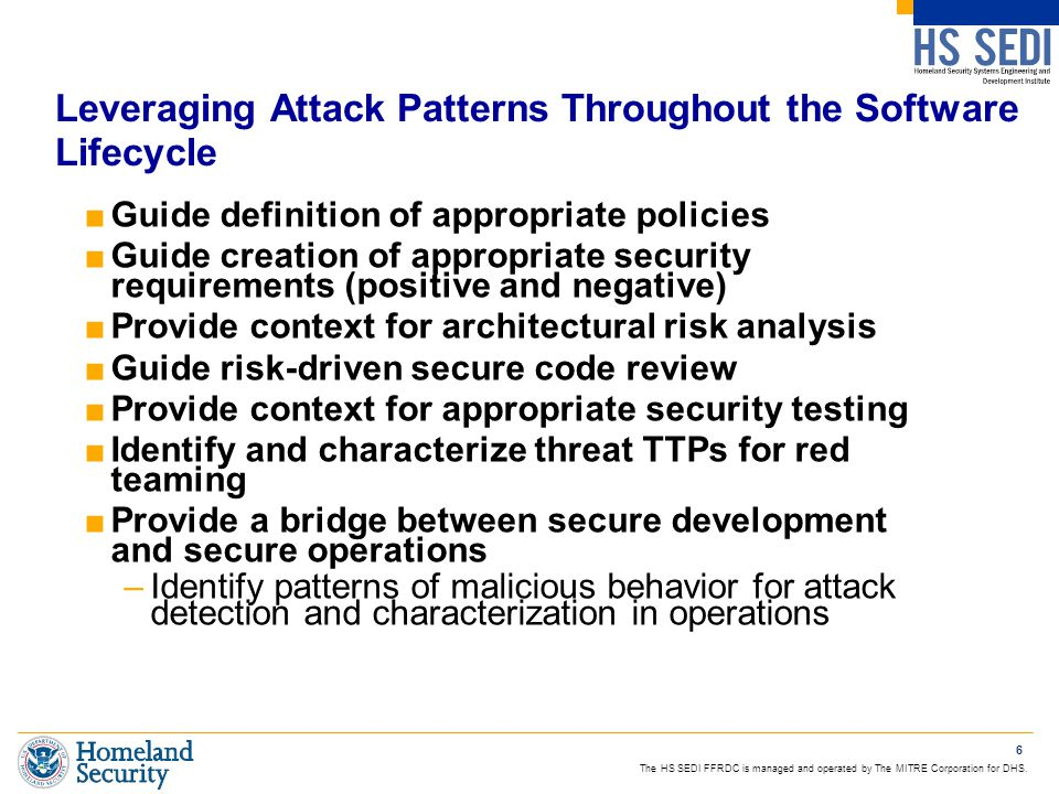 Leveraging Attack Patterns Throughout the Software Lifecycle
