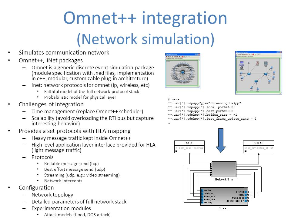 Omnet++ integration (Network simulation)