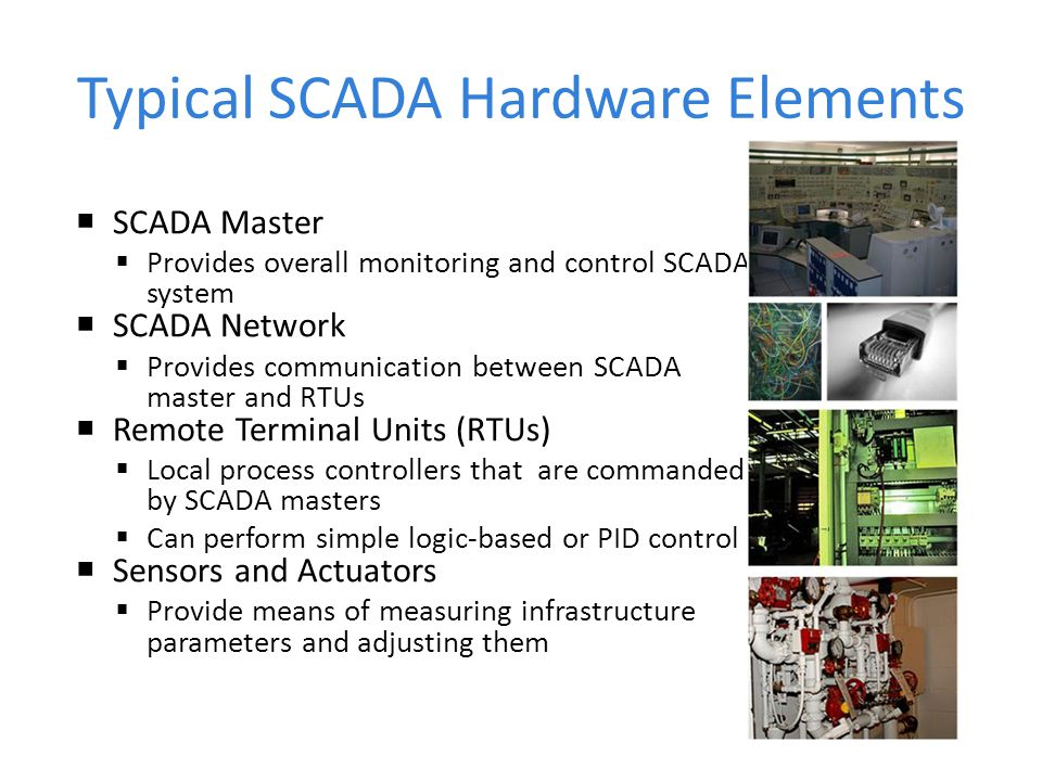 Typical SCADA Hardware Elements