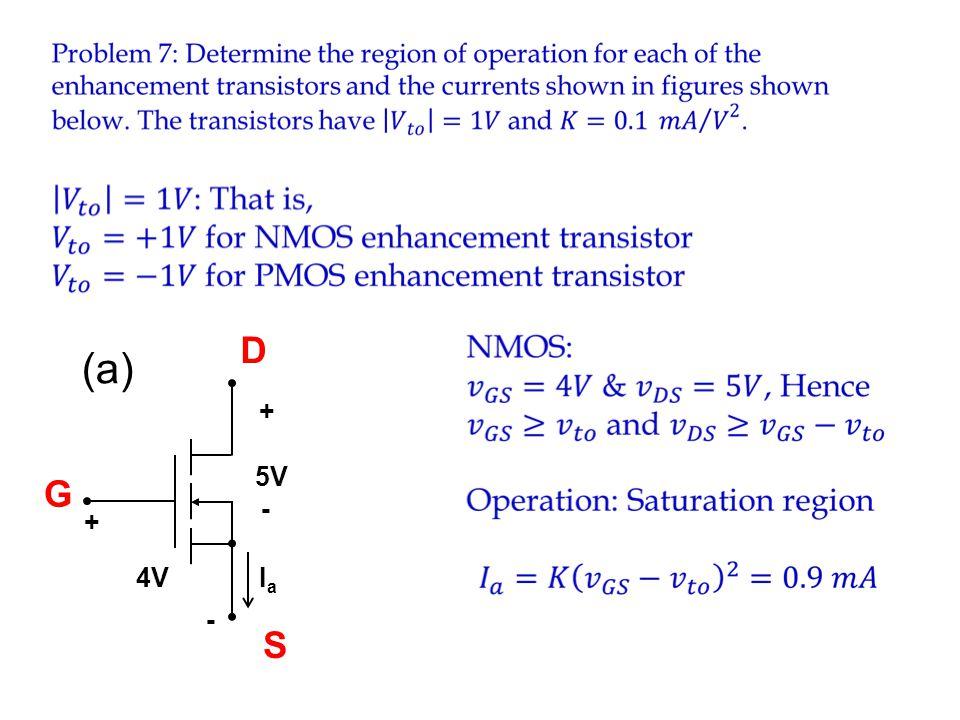D (a) Ia 4V - + 5V G S