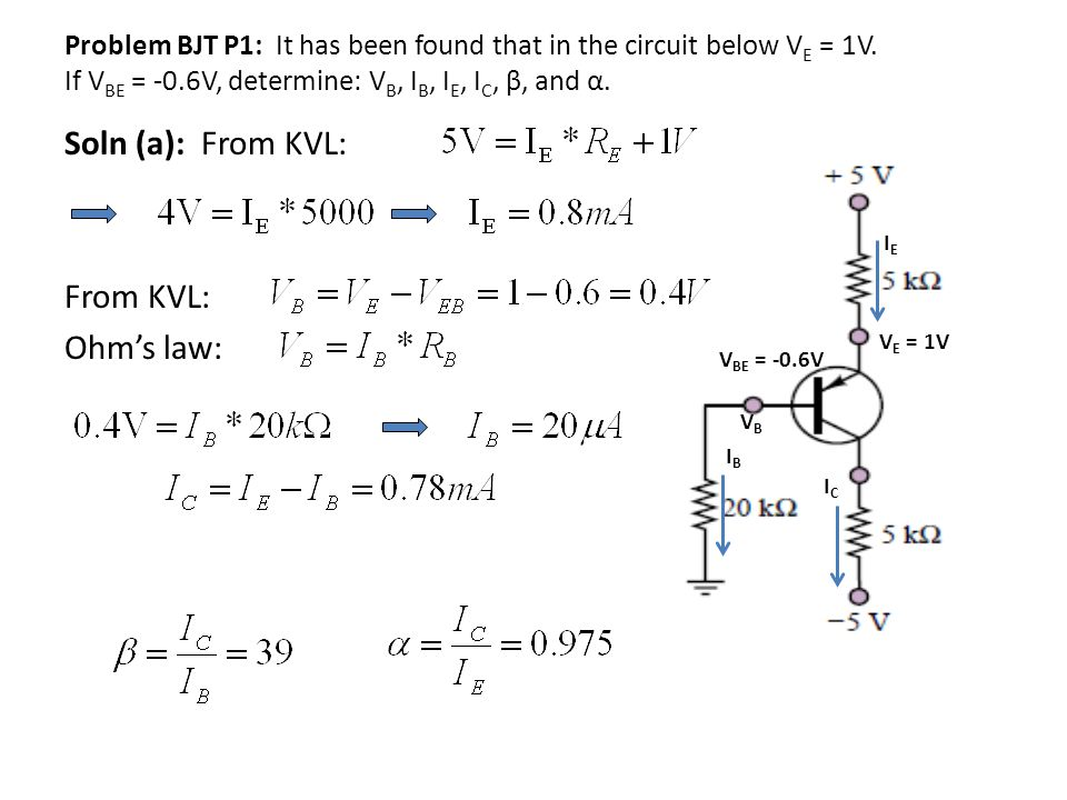 Soln (a): From KVL: From KVL: Ohm's law: