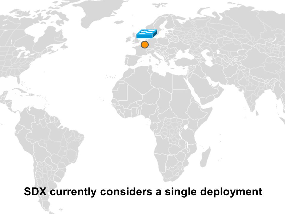 SDX currently considers a single deployment