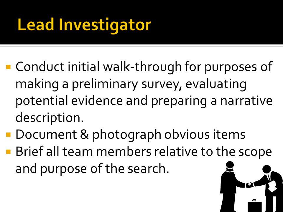 Lead Investigator