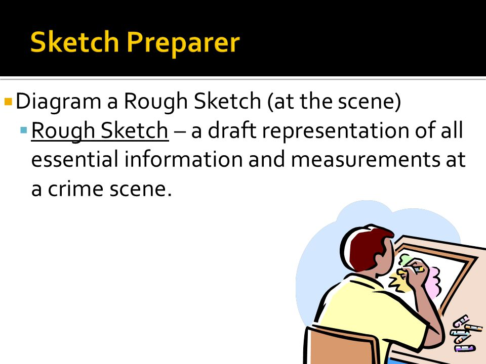 Sketch Preparer Diagram a Rough Sketch (at the scene)