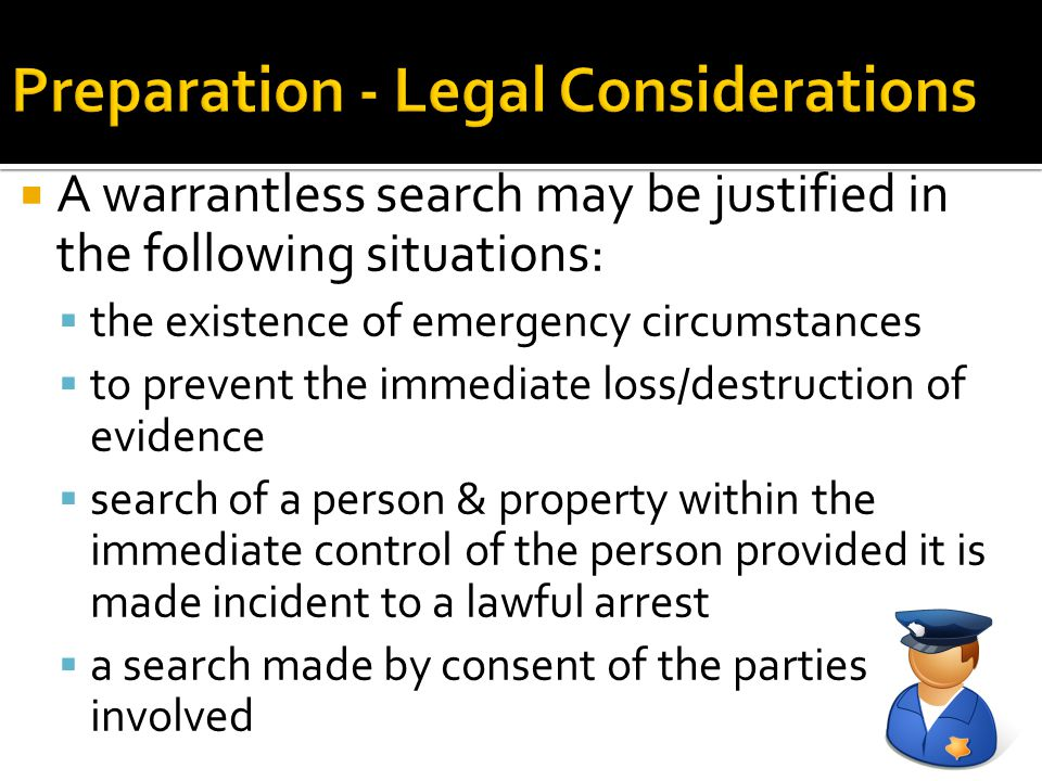 Preparation - Legal Considerations