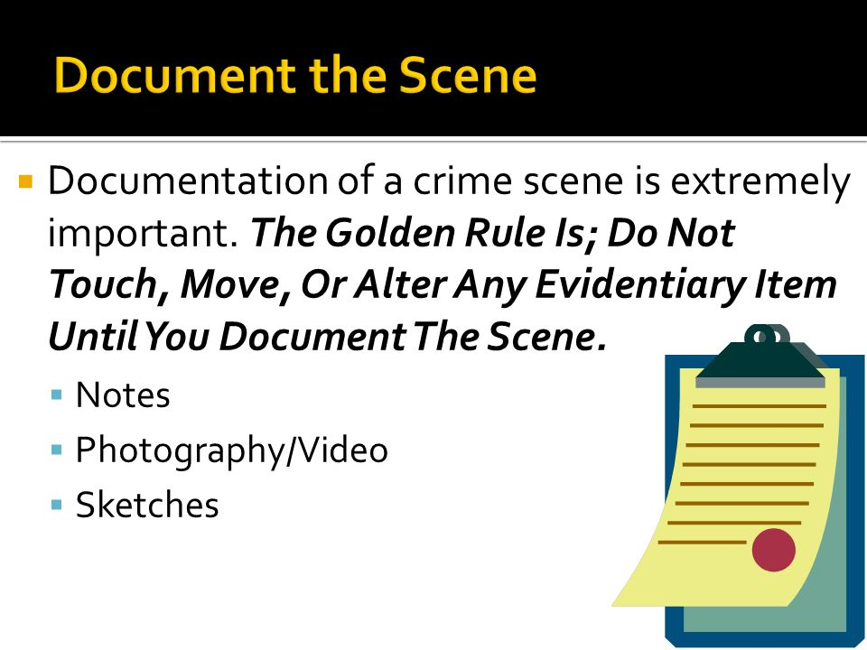 Document the Scene