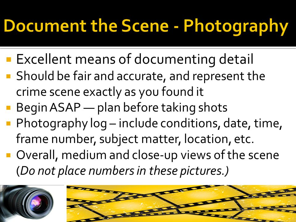 Document the Scene - Photography