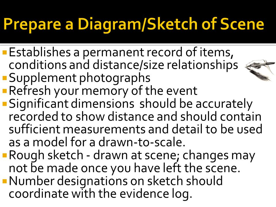 Prepare a Diagram/Sketch of Scene