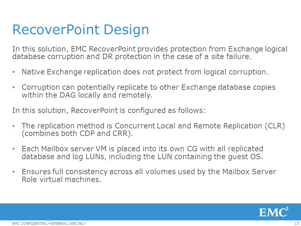 RecoverPoint Design