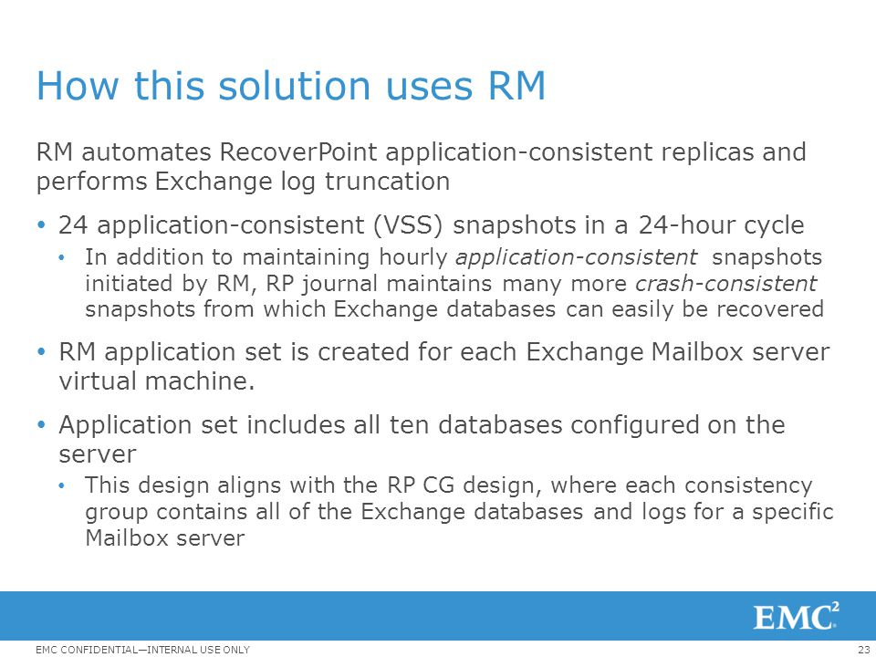How this solution uses RM