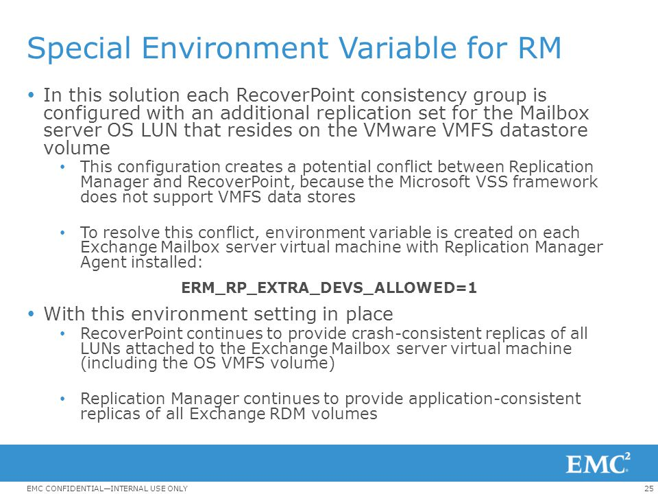 Special Environment Variable for RM