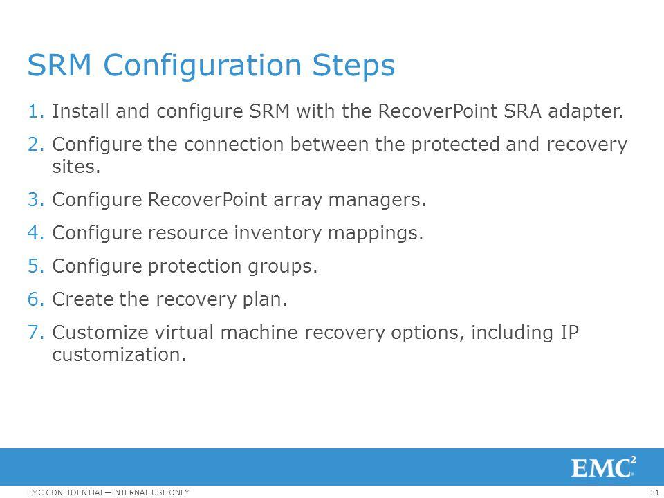 SRM Configuration Steps