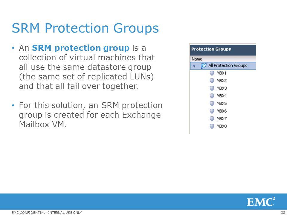 SRM Protection Groups