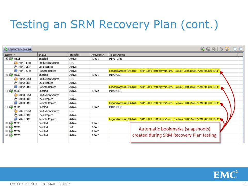 Testing an SRM Recovery Plan (cont.)