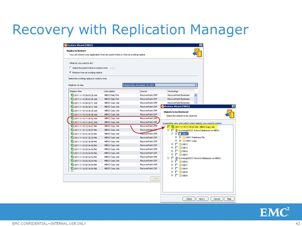 Recovery with Replication Manager