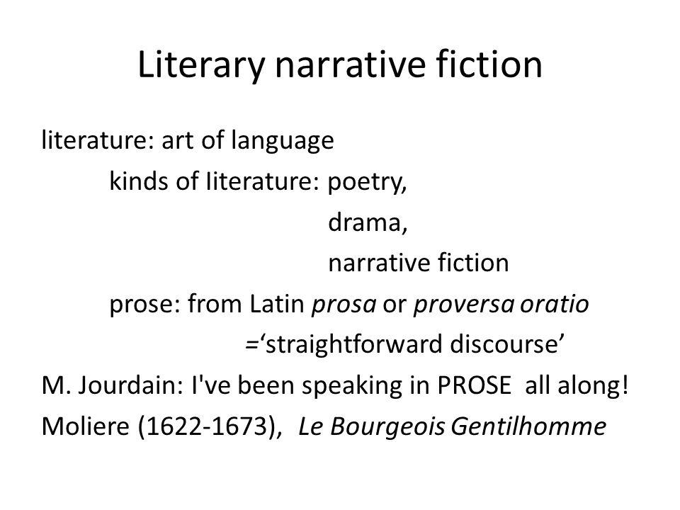 Literary narrative fiction