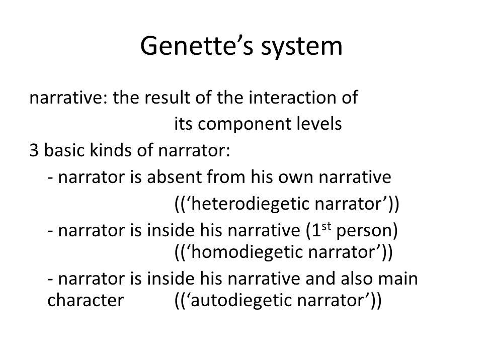 Genette's system