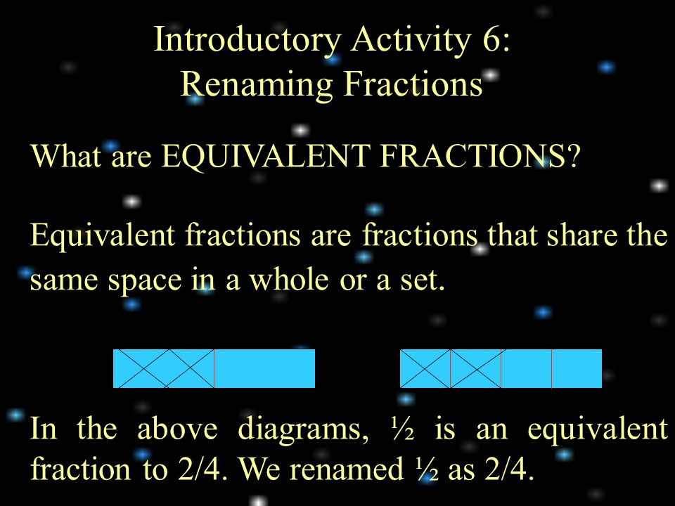 Introductory Activity 6: Renaming Fractions