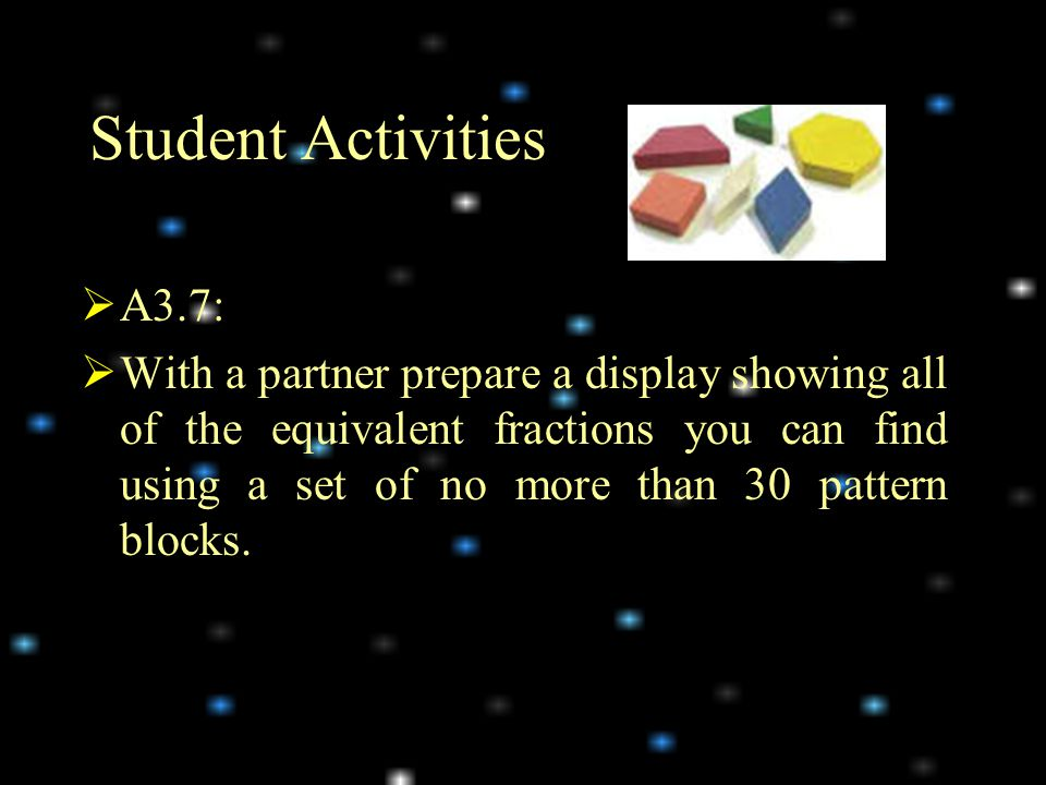 Student Activities A3.7: