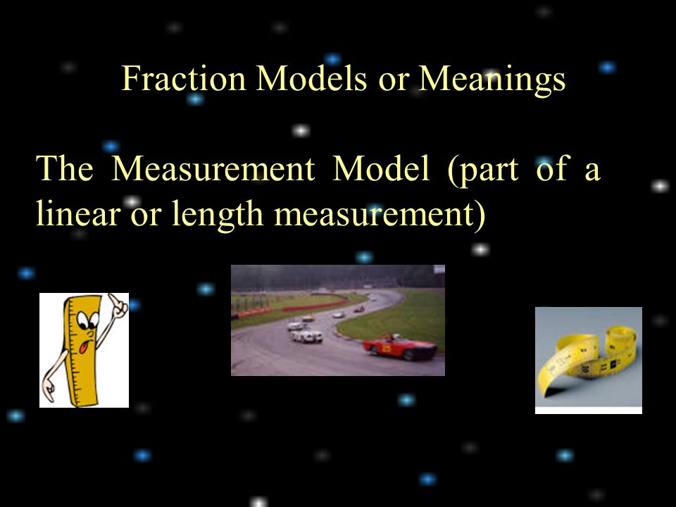 Fraction Models or Meanings