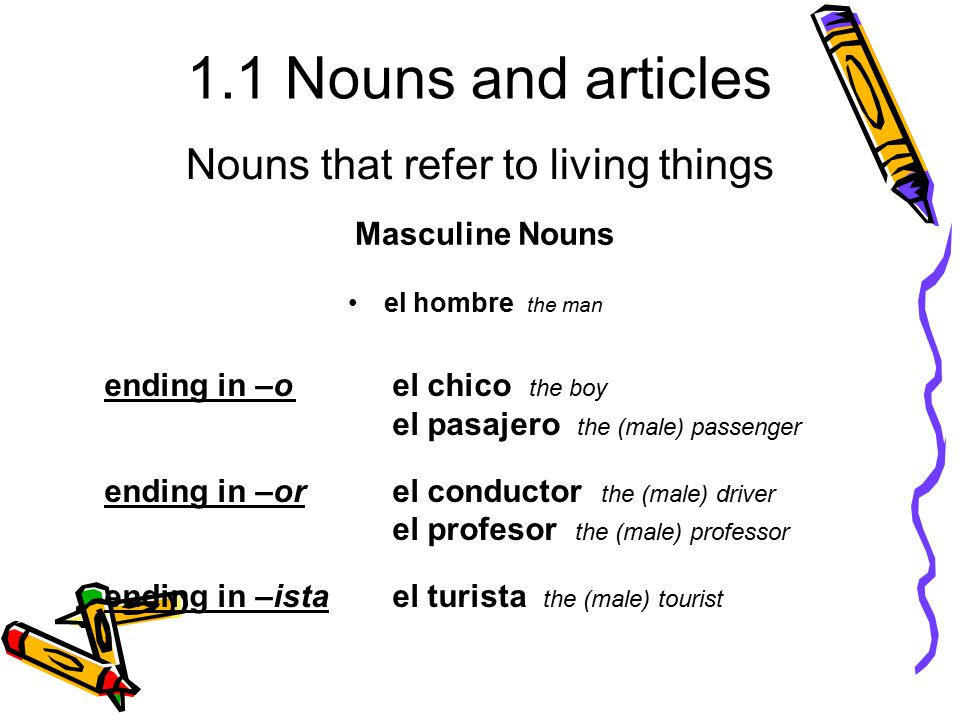 Nouns that refer to living things