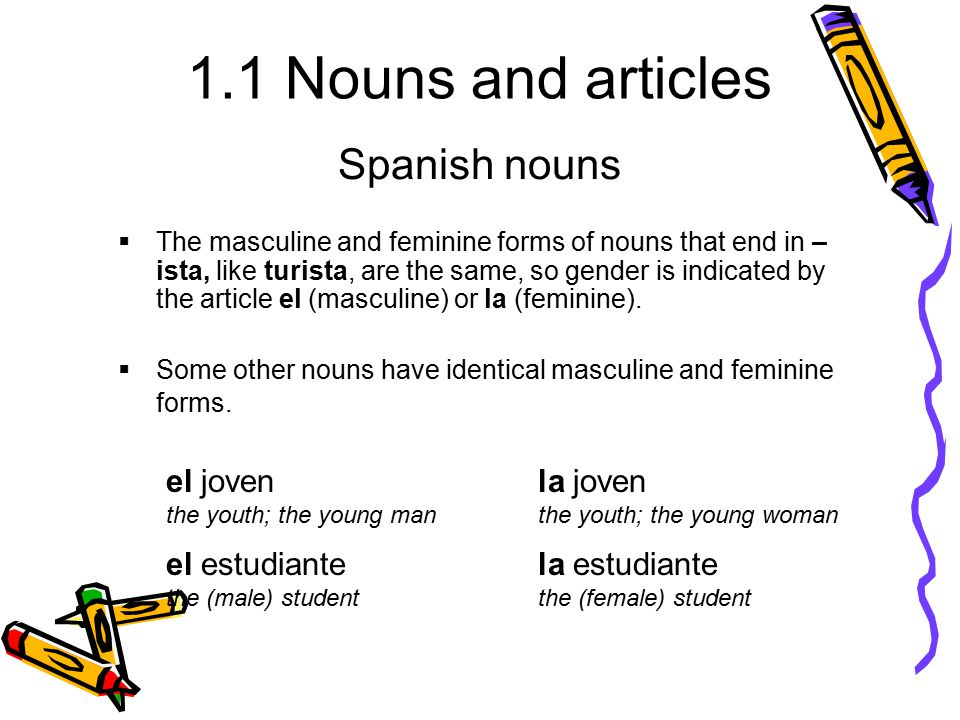 Spanish nouns ANTE TODO - ppt video online download
