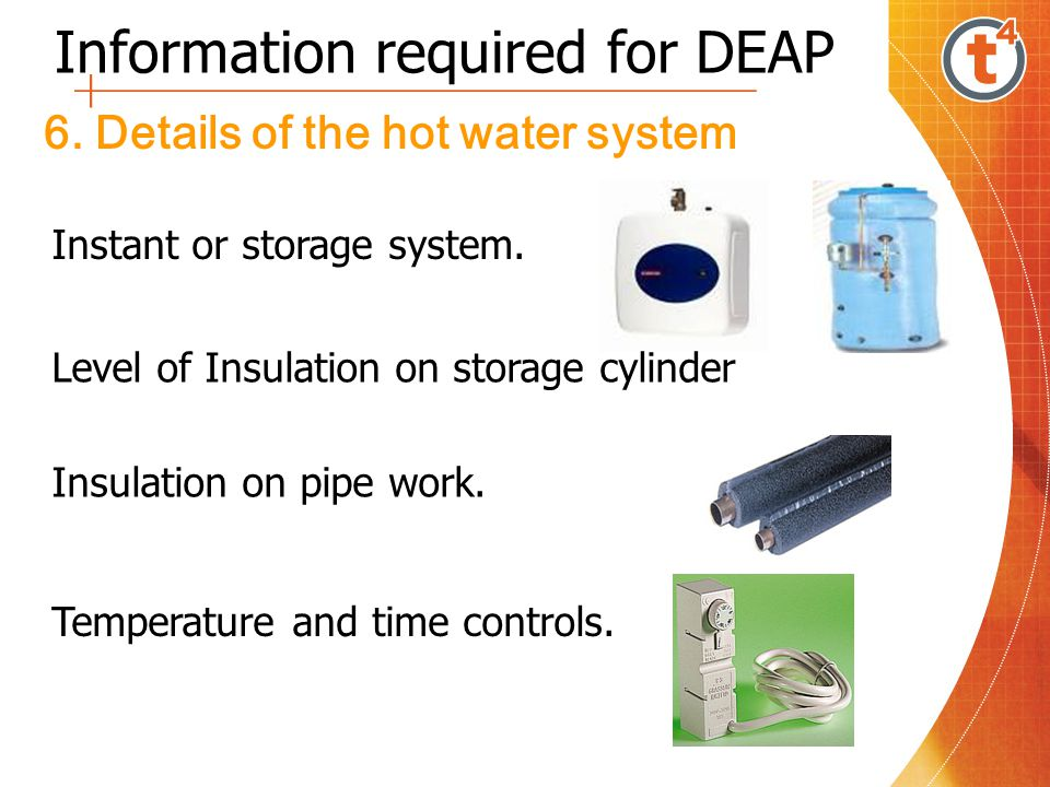 Information required for DEAP