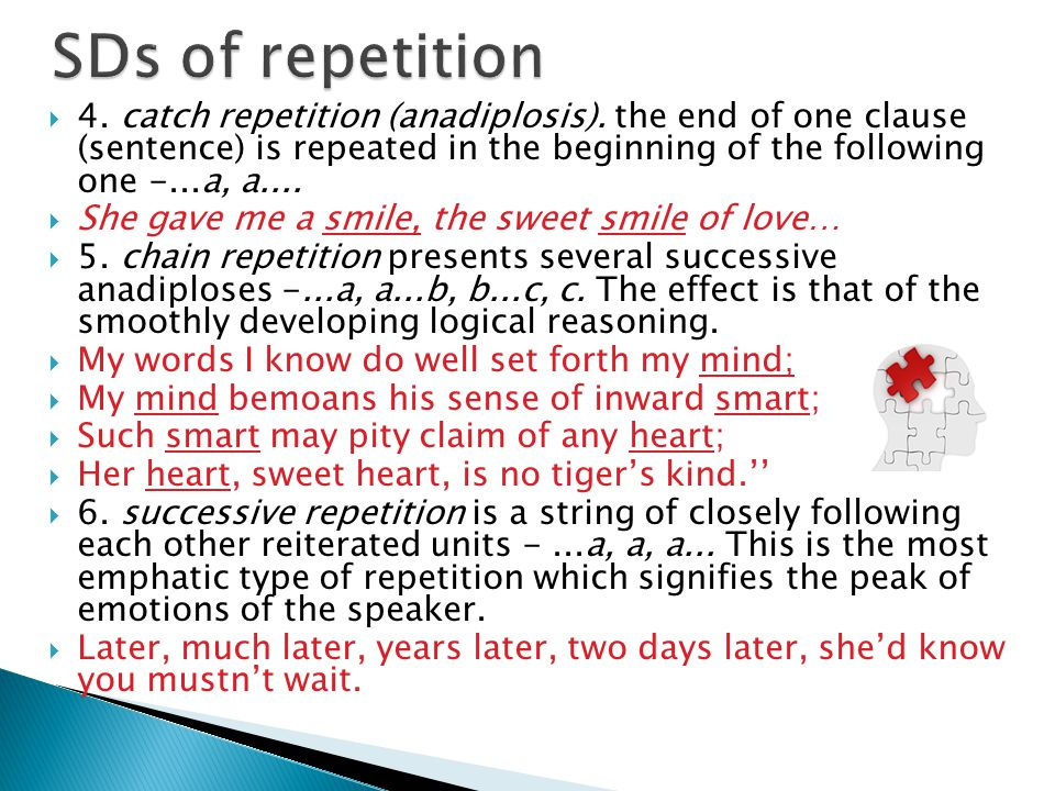SDs of repetition