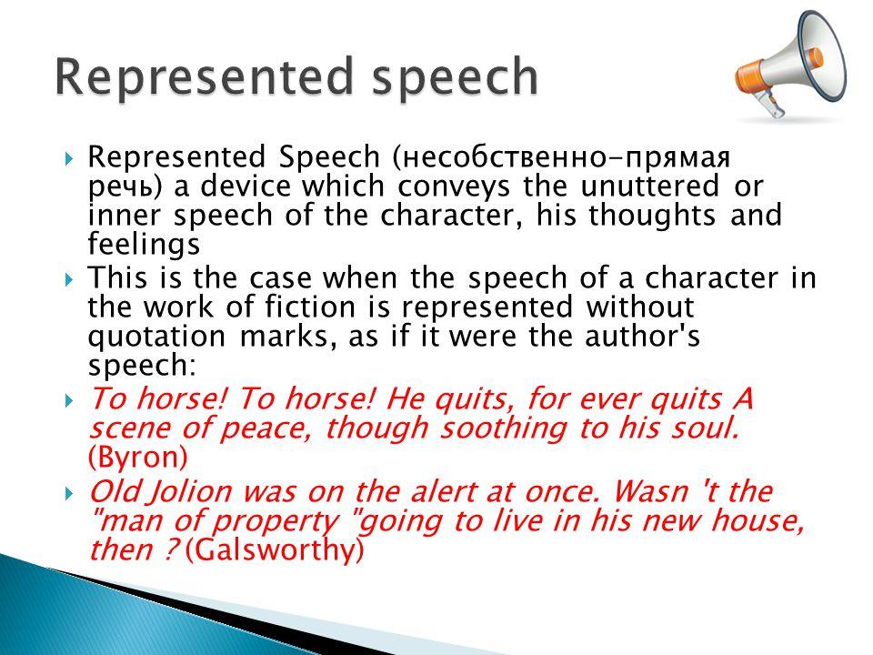 Represented speech