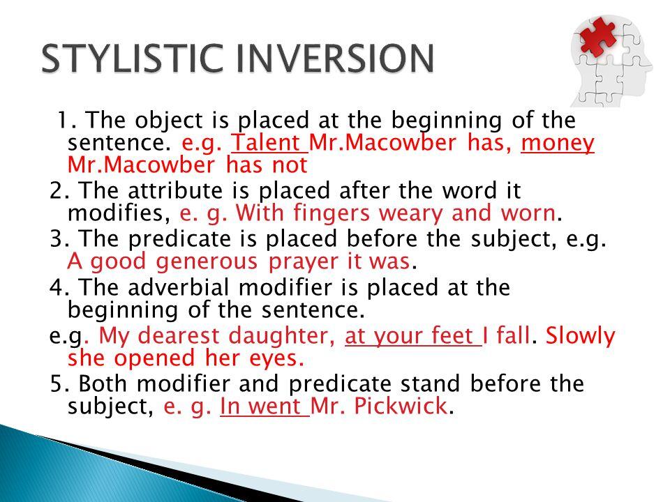 stylistic inversion