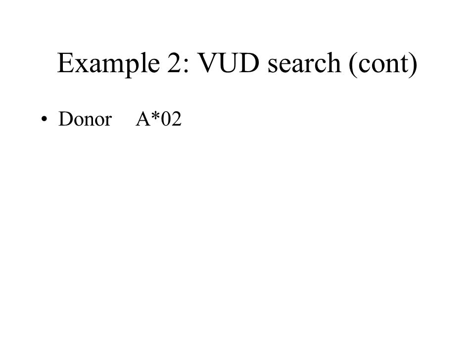 Example 2: VUD search (cont)