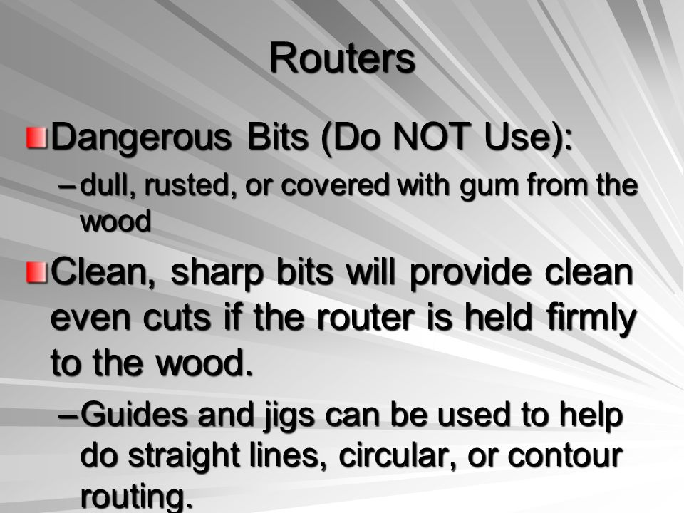 Routers Dangerous Bits (Do NOT Use):