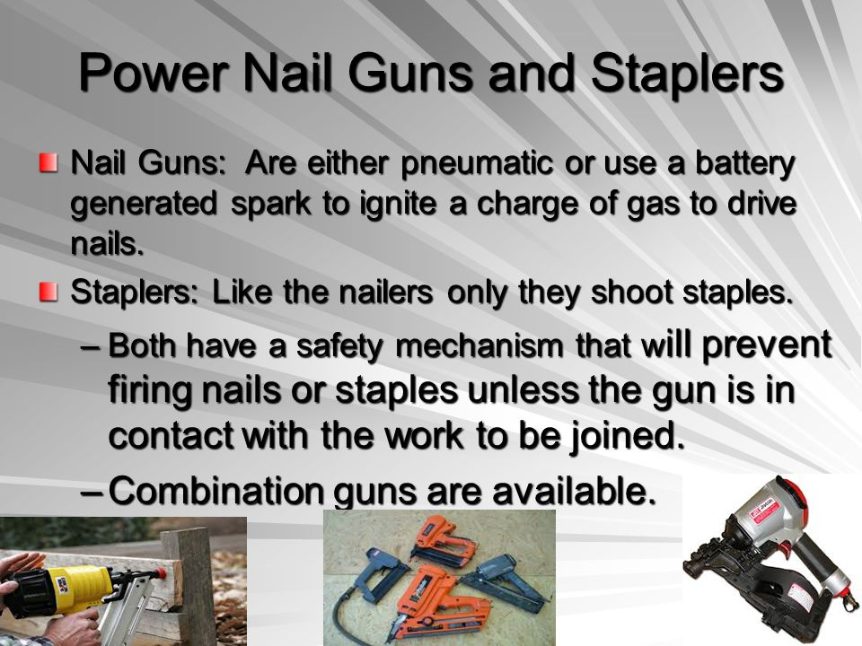Power Nail Guns and Staplers