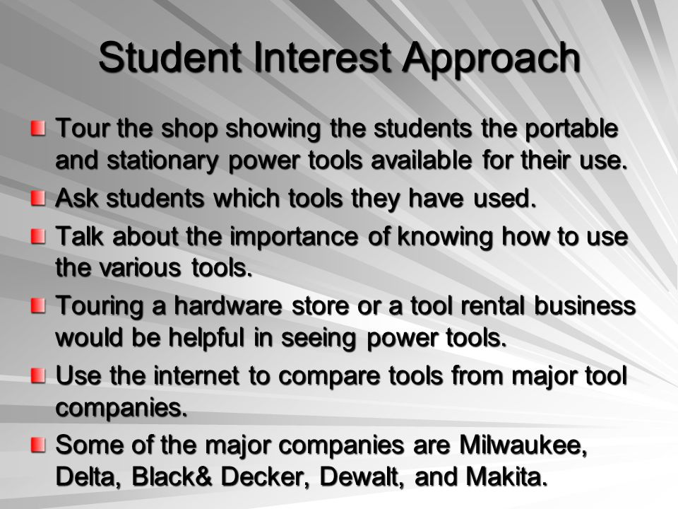 Student Interest Approach
