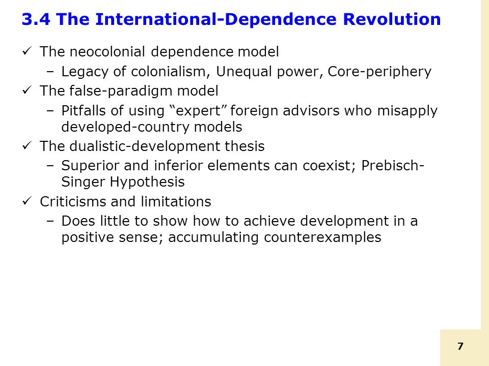 3.4 The International-Dependence Revolution