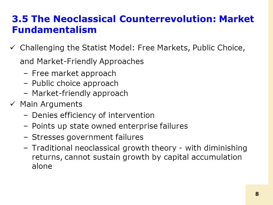 3.5 The Neoclassical Counterrevolution: Market Fundamentalism