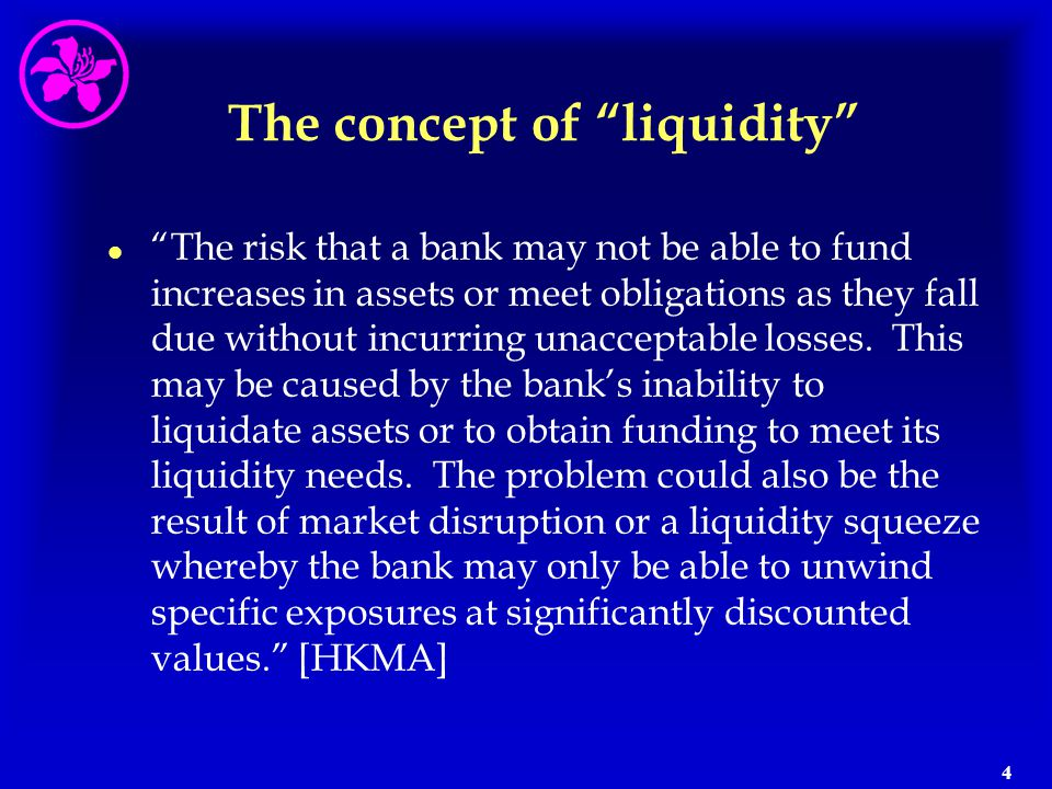 The concept of liquidity