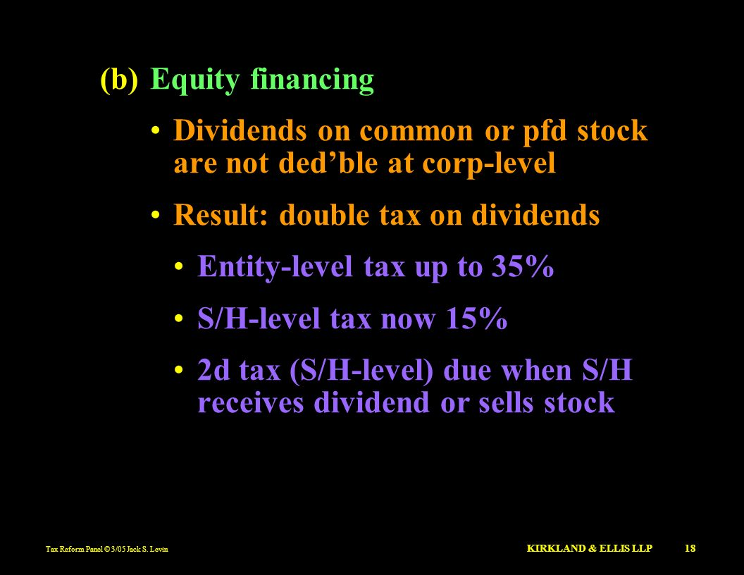 Dividends on common or pfd stock are not ded'ble at corp-level