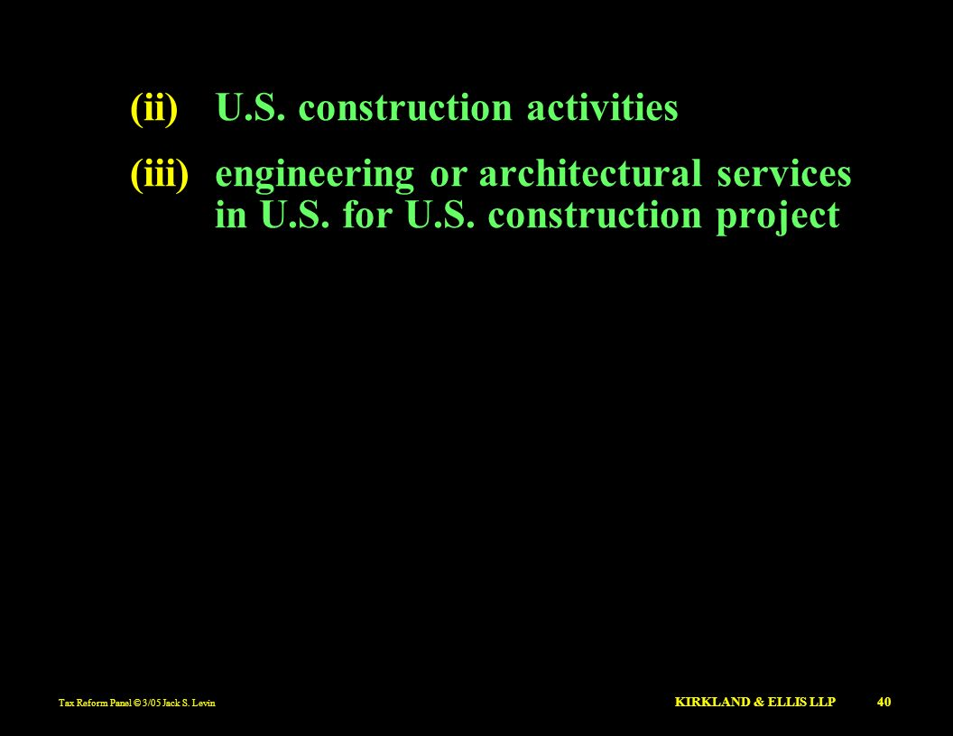(ii) U.S. construction activities