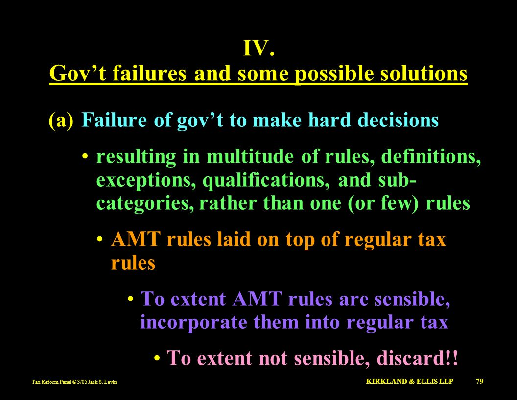 Gov't failures and some possible solutions