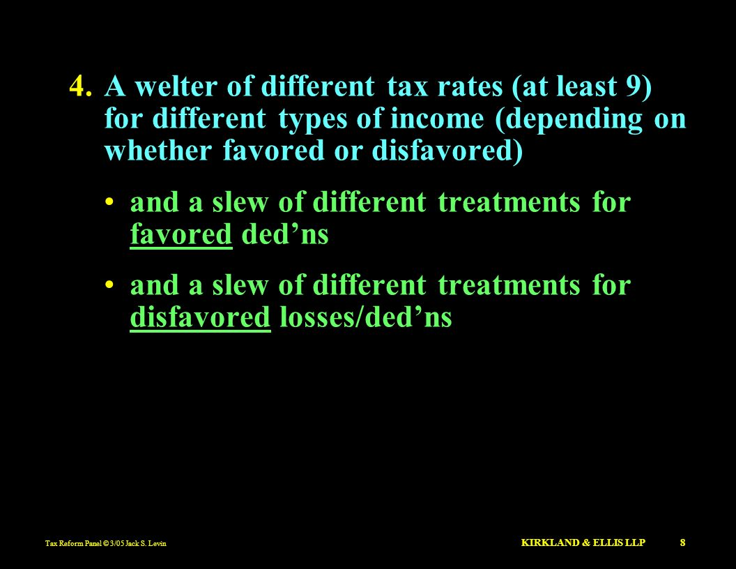 and a slew of different treatments for favored ded'ns