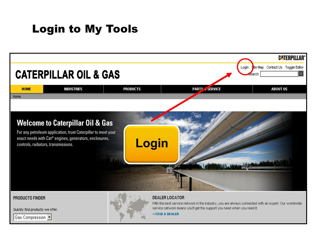 Login to My Tools Login