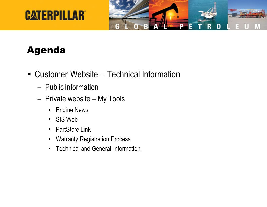 Customer Website – Technical Information