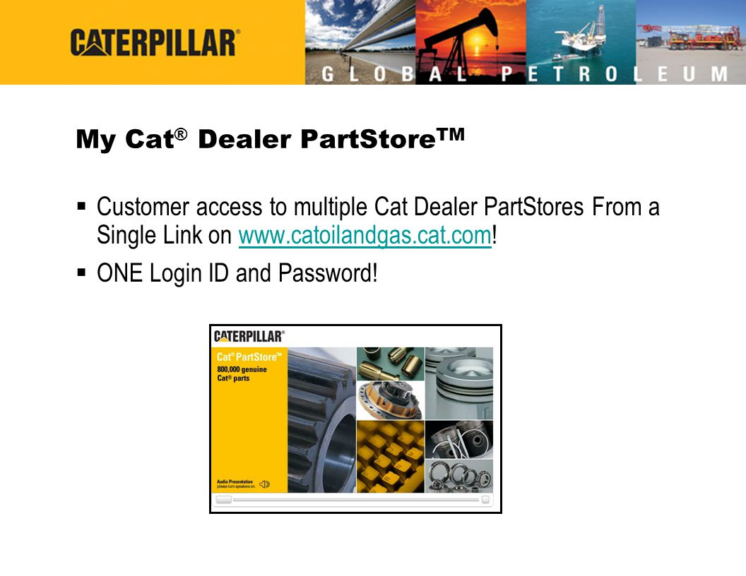 My Cat® Dealer PartStoreTM