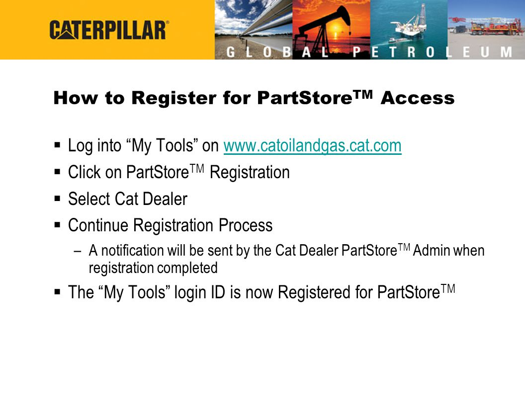 How to Register for PartStoreTM Access